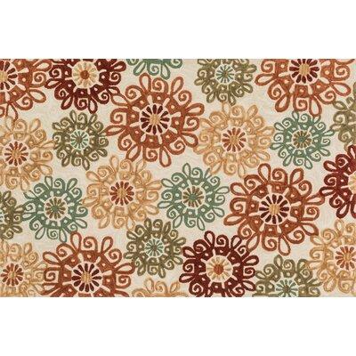 Kisner Hand-Woven Beige/Brown Area Rug Rug Size: Rectangle 36 x 56