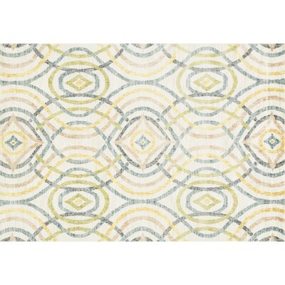 Yanga Ivory Area Rug Rug Size: Rectangle 52 x 77