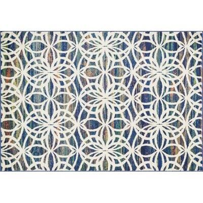 Lyon Blue Area Rug Rug Size: 52 x 77