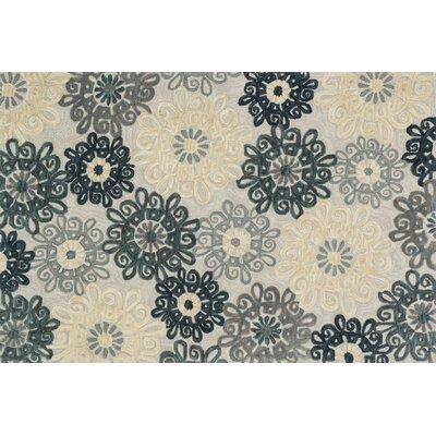 Gabriella Hand-Woven Slate Area Rug Rug Size: 23 x 39