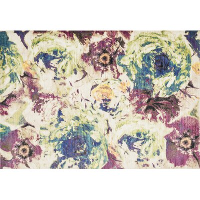 Yanga Magenta/Green Area Rug Rug Size: Rectangle 39 x 52