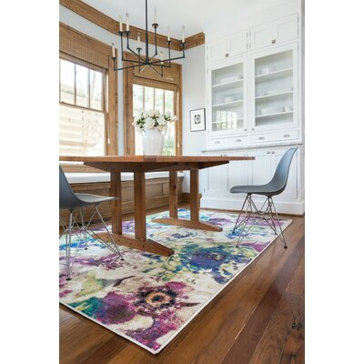 Madeline Magenta/Green Area Rug Rug Size: Rectangle 39 x 52
