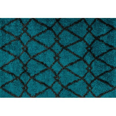 Nalder Blue/Charcoal Area Rug Rug Size: Rectangle 77 x 105