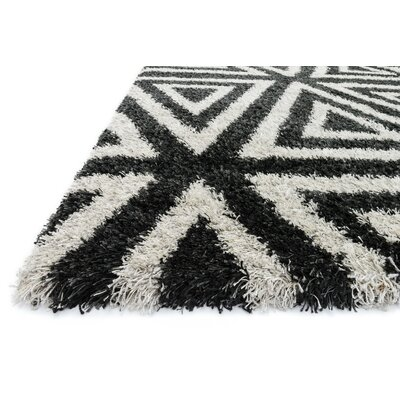 Nalder Charcoal/Ivory Area Rug Rug Size: Rectangle 39 x 56