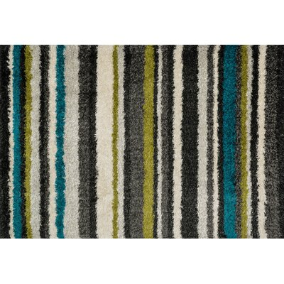 Nalder Gray/Green Area Rug Rug Size: Rectangle 77 x 105