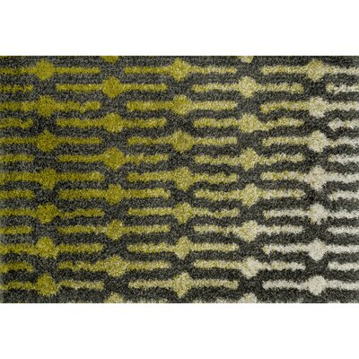 Nalder Green/Gray Area Rug Rug Size: Rectangle 77 x 105