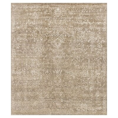 Pearl Hand-Knotted Stone/Pewter Area Rug Rug Size: Rectangle 56 x 86