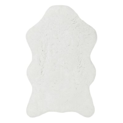 Shear Softness White Rug Rug Size: Novelty 23 x 39