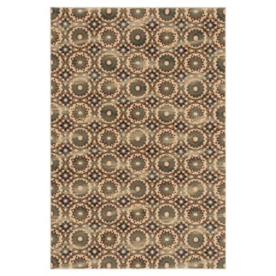 Vista Ivory/Rustic Area Rug Rug Size: 39 x 52