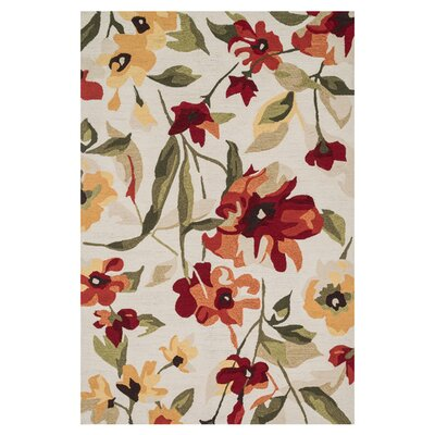 Summerton Hand-Hooked Red/Yellow Area Rug