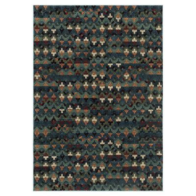 Vista Green Area Rug Rug Size: 39 x 52