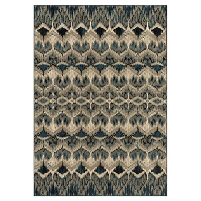 Vista Taupe/Blue Area Rug Rug Size: Rectangle 39 x 52