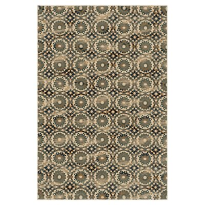 Vista Ivory/Blue Area Rug Rug Size: Rectangle 39 x 52