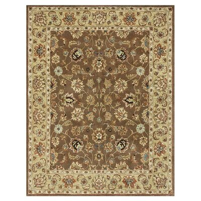Maple Hand-Tufted Light Mocha Area Rug Rug Size: 7'9