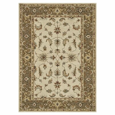 Fairfield Hand-Tufted Ivory/Bronze Area Rug Rug Size: 76 x 96
