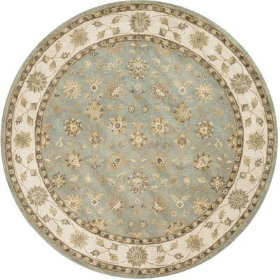Maple Hand-Tufted Blue Area Rug Rug Size: Round 8