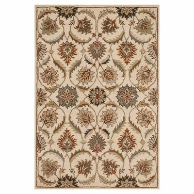 Ashford Hand-Woven Ivory Area Rug Rug Size: 76 x 96