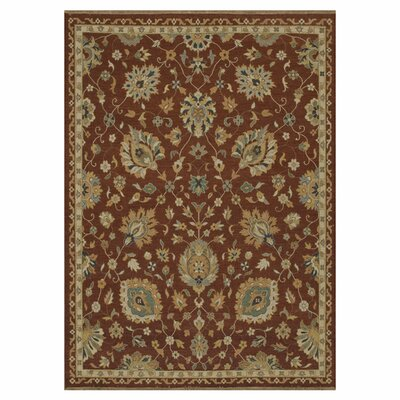 Laurent Hand-Knotted Rust/Brown Area Rug Rug Size: 86 x 116