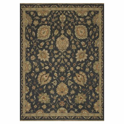 Laurent Hand-Woven Charcoal/Brown Area Rug Rug Size: 86 x 116