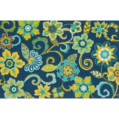 Ventura Blue/Green Area Rug Rug Size: 36 x 56