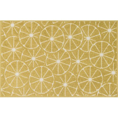 Tilley Green/Ivory Area Rug Rug Size: 25 x 39