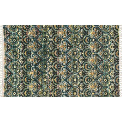 Aria Brown/Gold Area Rug Rug Size: Runner 19 x 5