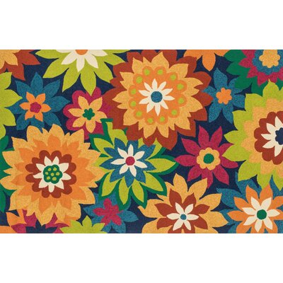 Ventura Blue/Orange Area Rug Rug Size: 76 x 96