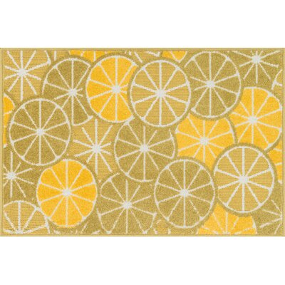 Tilley Green/Yellow Area Rug Rug Size: Slice 25 x 39