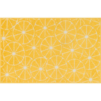 Tilley Yellow Area Rug Rug Size: 25 x 39