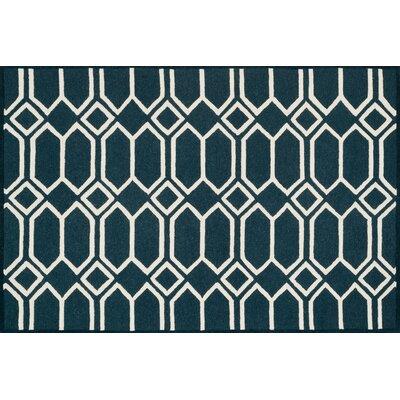 Celine Navy/Ivory Area Rug Rug Size: Square 76