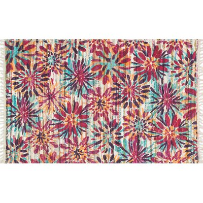 Zabel Ivory/Berry Area Rug Rug Size: Rectangle 18 x 3