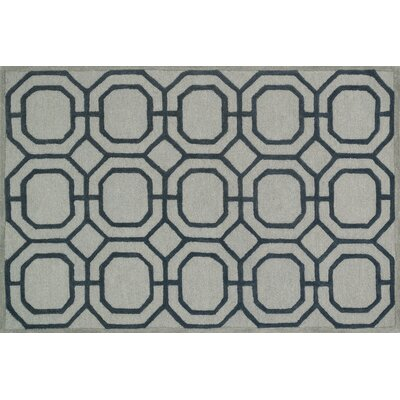 Celine Gray/Charcoal Area Rug Rug Size: Square 7'6