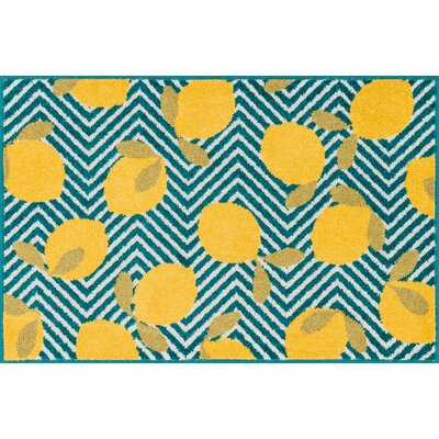 Colley-Critchlow Blue/Yellow Area Rug Rug Size: Slice 25 x 39