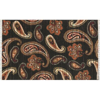 Aria Chocolate/Rust Area Rug Rug Size: 36 x 56
