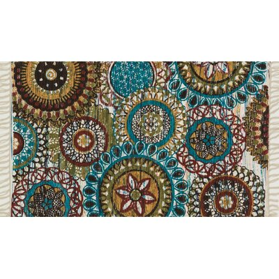 Aria Green/Blue Area Rug Rug Size: 18 x 3