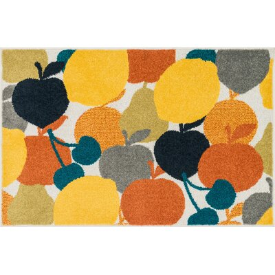Tilley Orange/Yellow Area Rug Rug Size: Slice 25 x 39