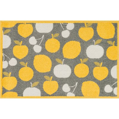 Tilley Gray/Yellow Area Rug Rug Size: Slice 25 x 39