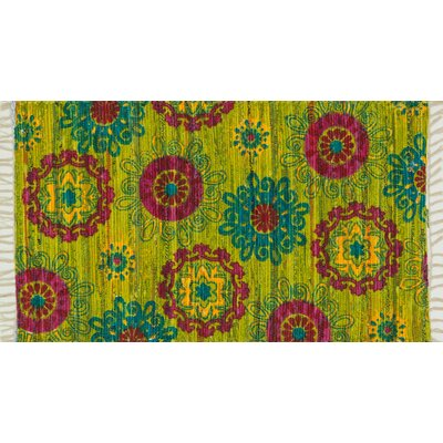 Zabel Lime/Pink Area Rug Rug Size: Rectangle 23 x 39