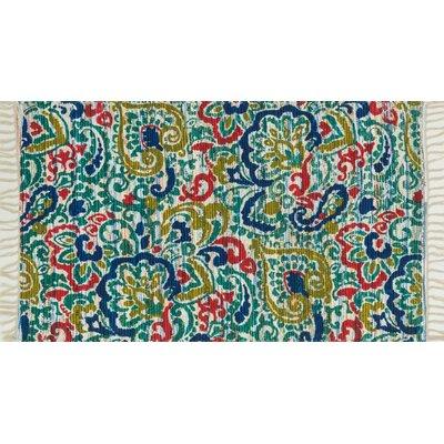 Aria Blue Area Rug Rug Size: Rectangle 36 x 56