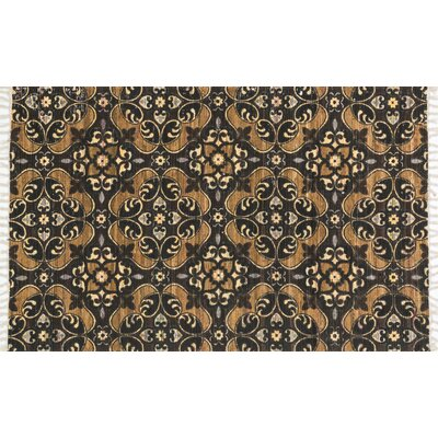 Aria Brown/Gold Area Rug Rug Size: 36 x 56