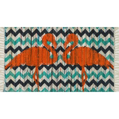 Aria Aqua/Orange Area Rug