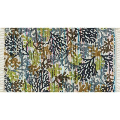 Zabel Gray/Green Area Rug Rug Size: Rectangle 18 x 3