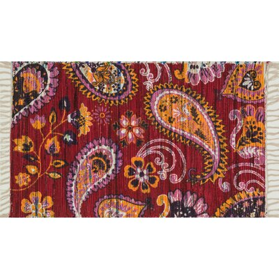 Zabel Pink/Gold Area Rug Rug Size: Rectangle 36 x 56