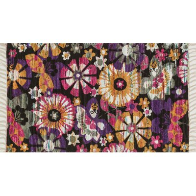 Zabel Violet/Gold Area Rug Rug Size: Rectangle 18 x 3