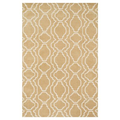 Mazurek Beige Area Rug Rug Size: Rectangle 36 x 56