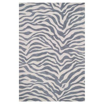 Mazurek Ivory/Gray Area Rug Rug Size: Rectangle 36 x 56