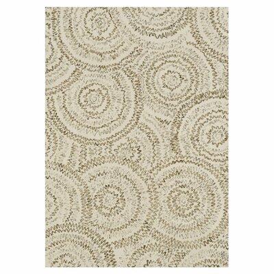 Diada Hand-Tufted Ivory Area Rug Rug Size: Rectangle 93 x 13