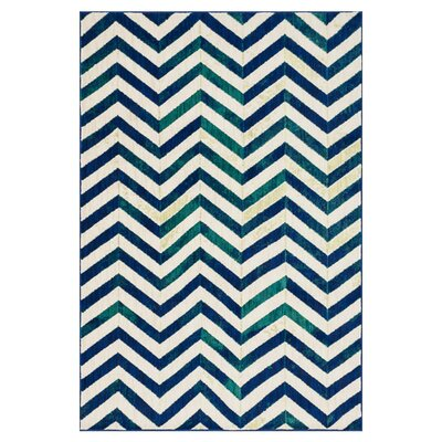 Madeline Ivory/Blue Area Rug Rug Size: Rectangle 2 x 3