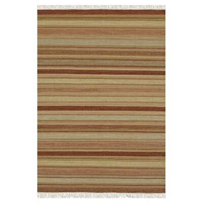 Camden Hand-Woven Brown/Beige Area Rug Rug Size: Rectangle 5 x 76