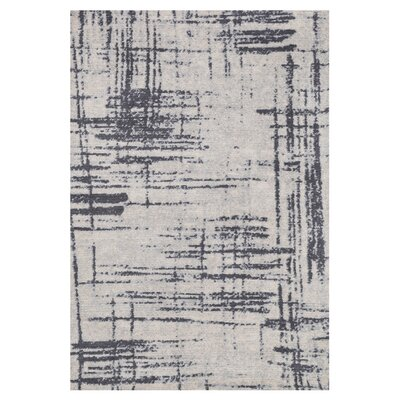 Wilde Gray/Charcoal Area Rug Rug Size: Rectangle 36 x 56